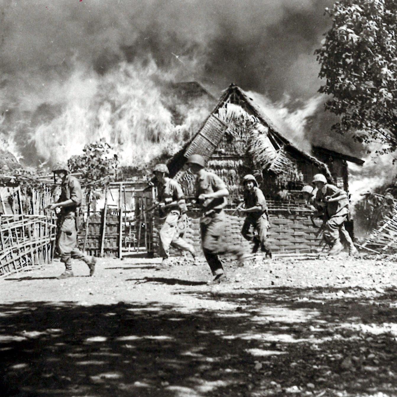 Brandende Kampong