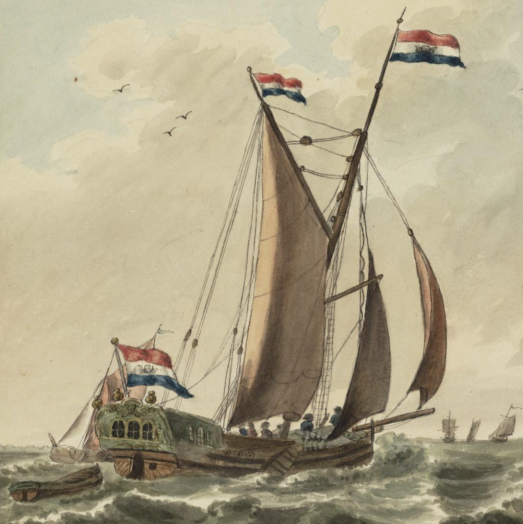 Hollandse Bezaanjacht op halve wind